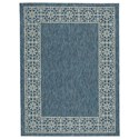 Benchcraft Casual Area Rugs Jeb Blue/Tan Medium Rug - Item Number: R402872