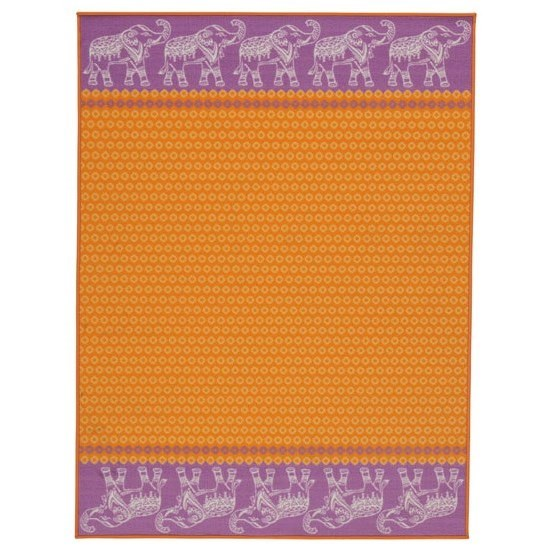 Signature Design by Ashley Casual Area Rugs Maximus Orange Medium Rug - Item Number: R402972