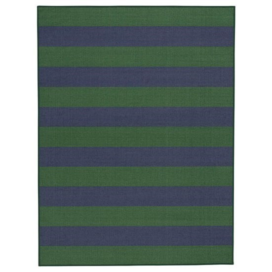 Signature Design by Ashley Casual Area Rugs Prentiss Navy/Green Medium Rug - Item Number: R403072