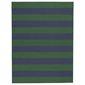 Prentiss Navy/Green Medium Rug