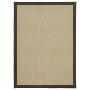 Trendz Casual Area Rugs Delta City Beige / Chocolate Medium Rug