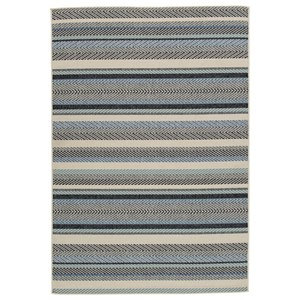 Troost Blue/Cream Medium Rug