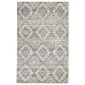 Signature Design by Ashley Casual Area Rugs Monwick Gray/Cream Large Rug - Item Number: R403741