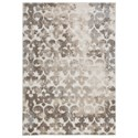 Signature Design by Ashley Casual Area Rugs Jiro Brown/Cream Large Rug - Item Number: R404011