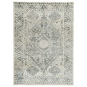 Signature Design by Ashley Casual Area Rugs Precia Gray/Cream Medium Rug - Item Number: R404132