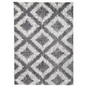 Signature Design by Ashley Casual Area Rugs Junette Cream/Gray Large Rug - Item Number: R404971