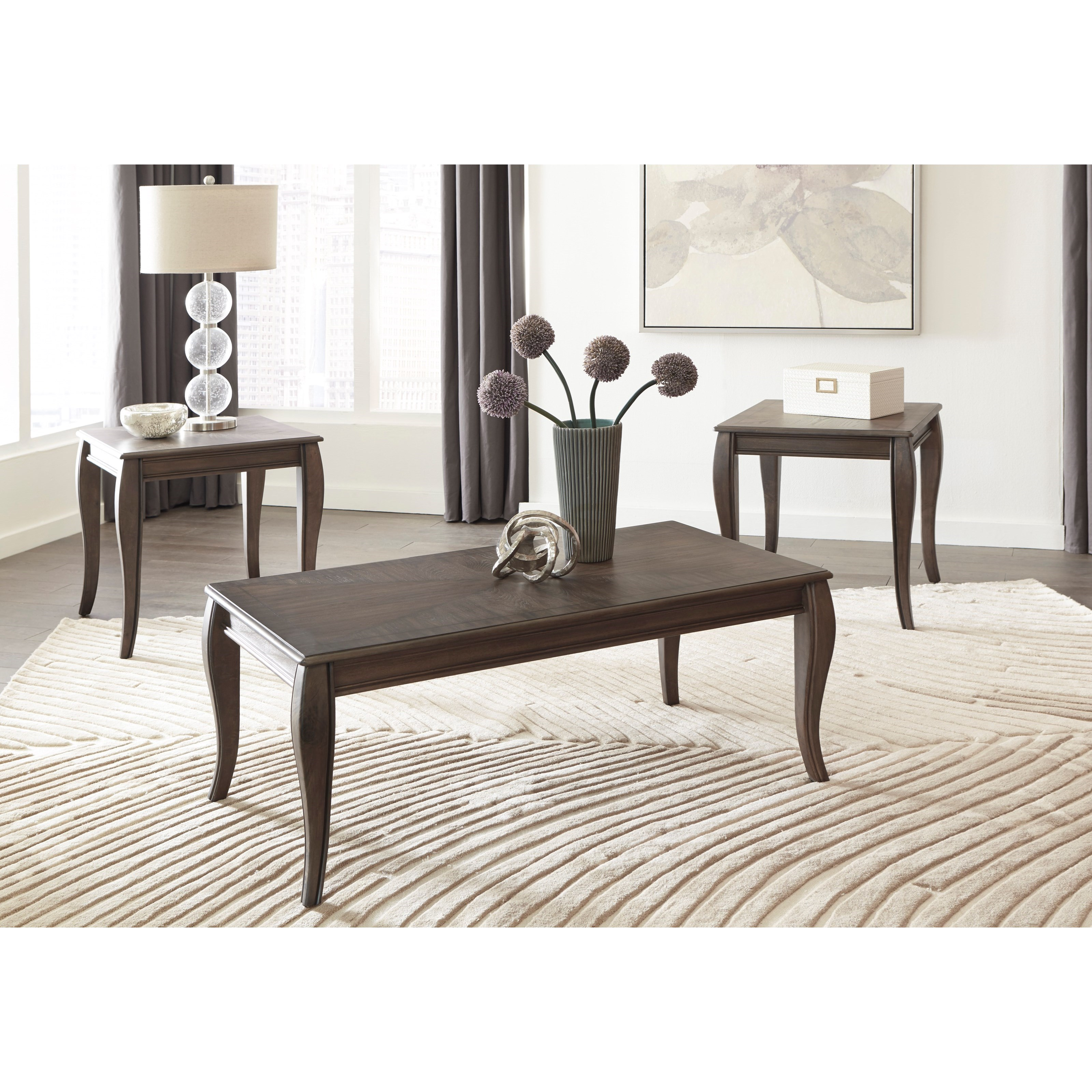 Classic 1 Occasional Table Set With Inlay Tabletop Design Ruby Gordon Furniture Mattresses