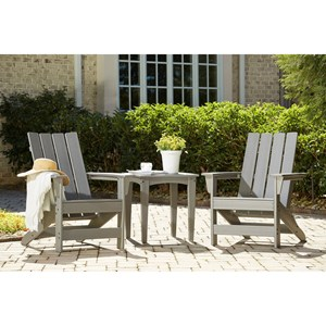 3-Piece Adirondack Chairs and Table Set