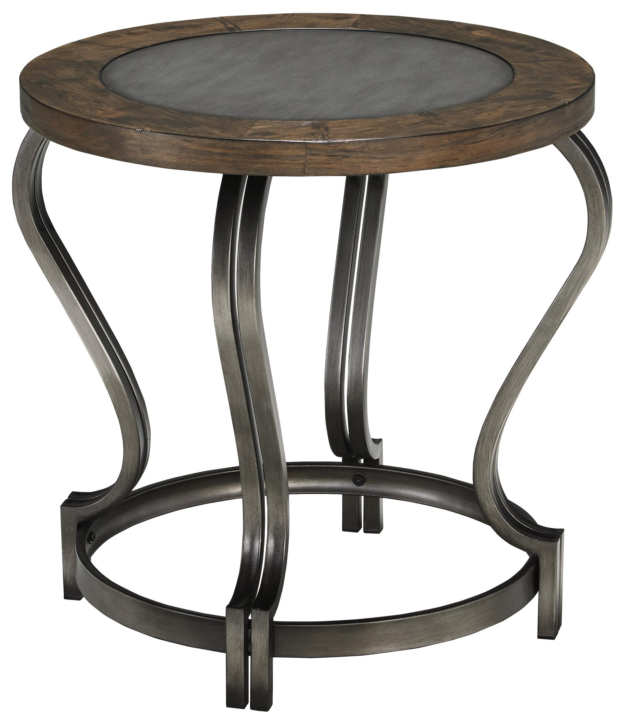 Signature Design by Ashley Volanta Round End Table - Item Number: T739-6