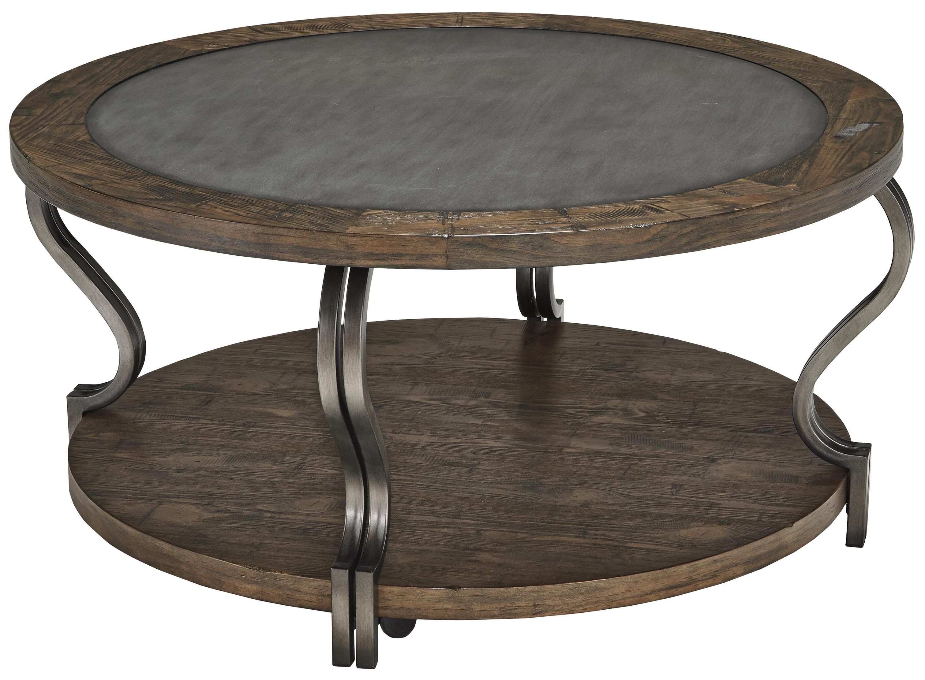 Signature Design by Ashley Volanta Round Cocktail Table - Item Number: T739-8