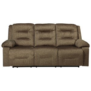 Benchcraft Waldheim Power Reclining Sofa w/ Adjustable Headrests
