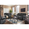 Signature Design by Ashley Waldheim Reclining Living Room Group - Item Number: 81502 Living Room Group 2
