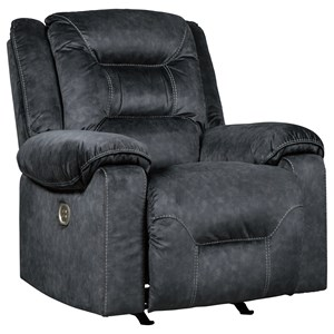 Signature Design by Ashley Waldheim Power Recliner w/ Adjustable Headrest