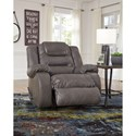 Signature Design by Ashley Walgast Casual Faux Leather Rocker Recliner
