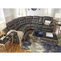 Signature Design by Ashley Walgast Casual Faux Leather L-Shaped Sectional