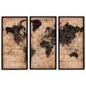 Ashley Signature Design Wall Art Pollyanna Tan/Black Wall Art Set - Item Number: A8000074
