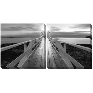 Canvas Black/White Wall Art Set