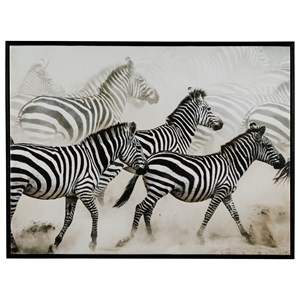 Breeda Black/White Zebra Wall Art