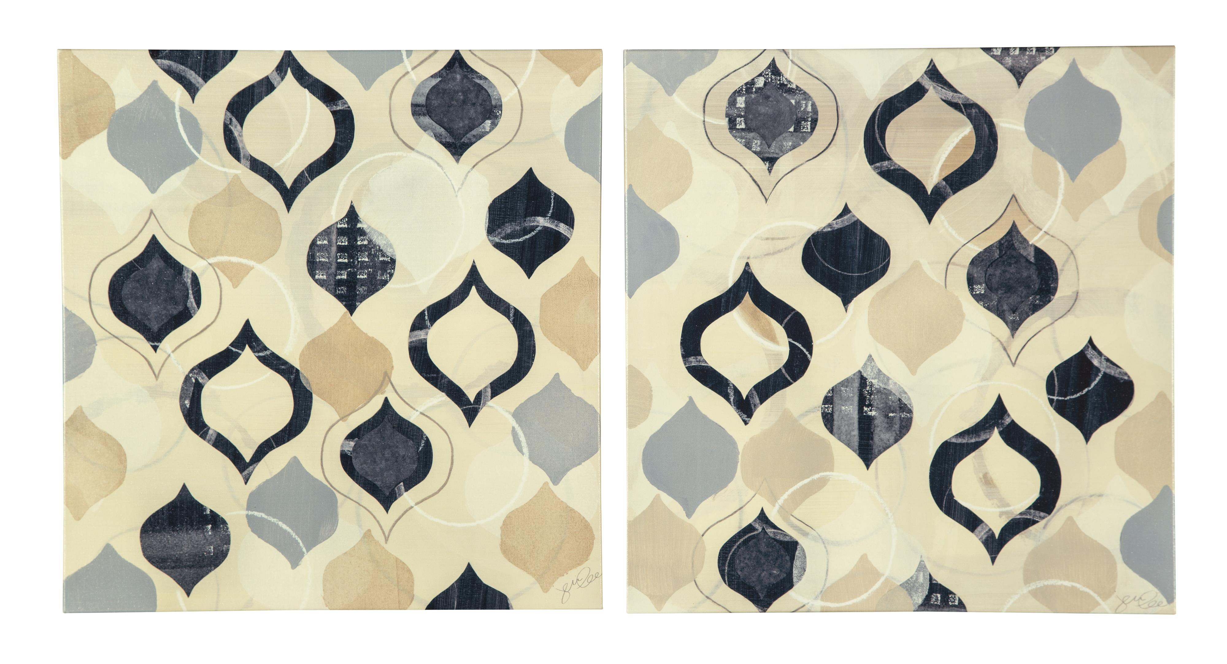 Signature Design by Ashley Wall Art Beacher (Multi) - Wall Art Set - Item Number: A8000119
