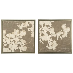 Signature Design by Ashley Wall Art Baibre Cream/Taupe Wall Art Set