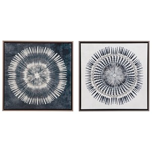 Monterey Blue/White Wall Art Set