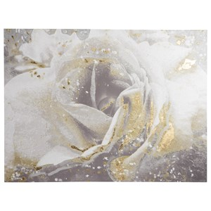 Signature Design by Ashley Wall Art Elowen White/Silver/Gold Finish Wall Art
