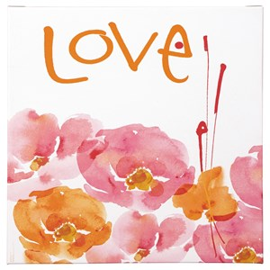 Signature Design by Ashley Wall Art Jachai Pink/Orange/White Wall Art