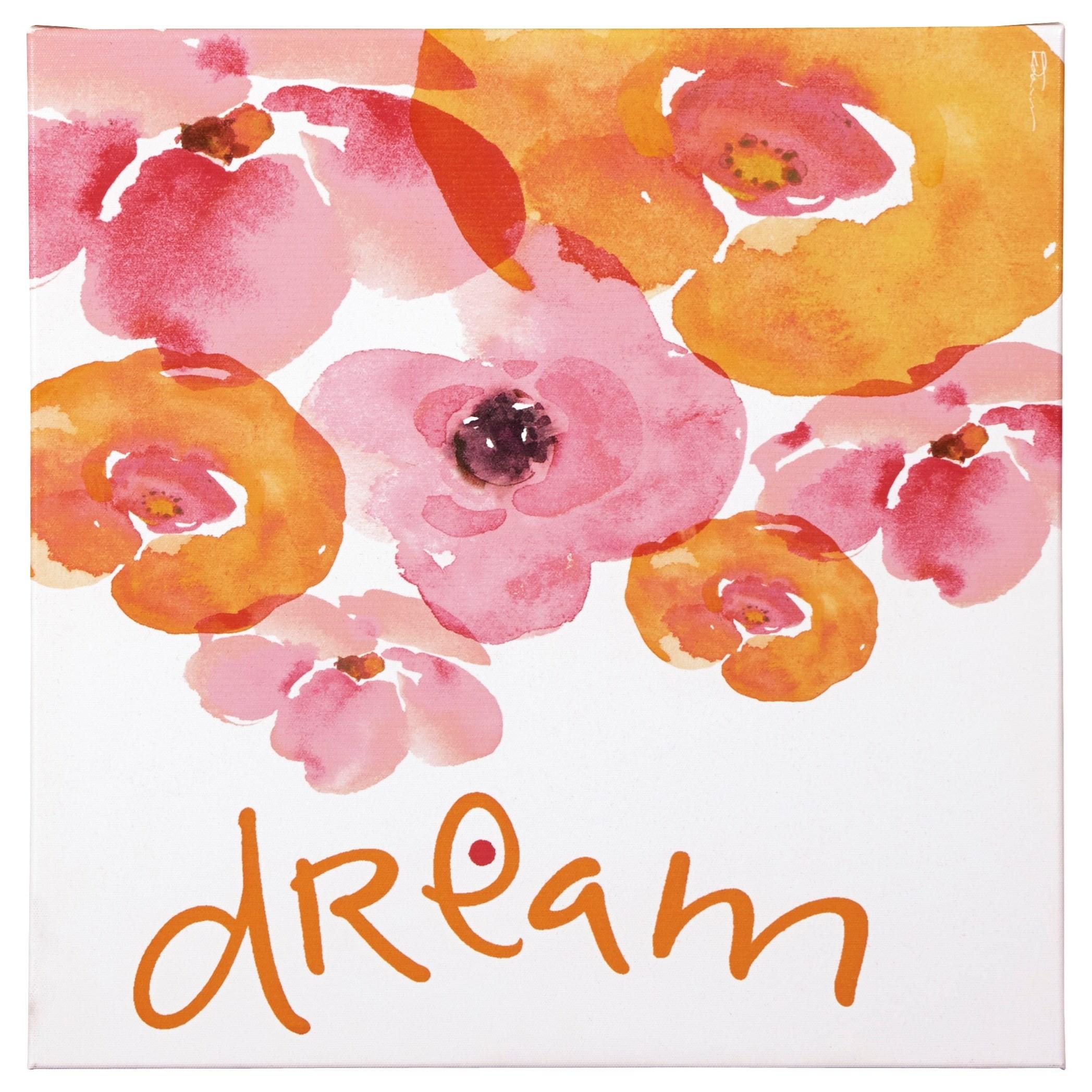 Signature Design by Ashley Wall Art Jachai Pink/Orange/White Wall Art - Item Number: A8000163