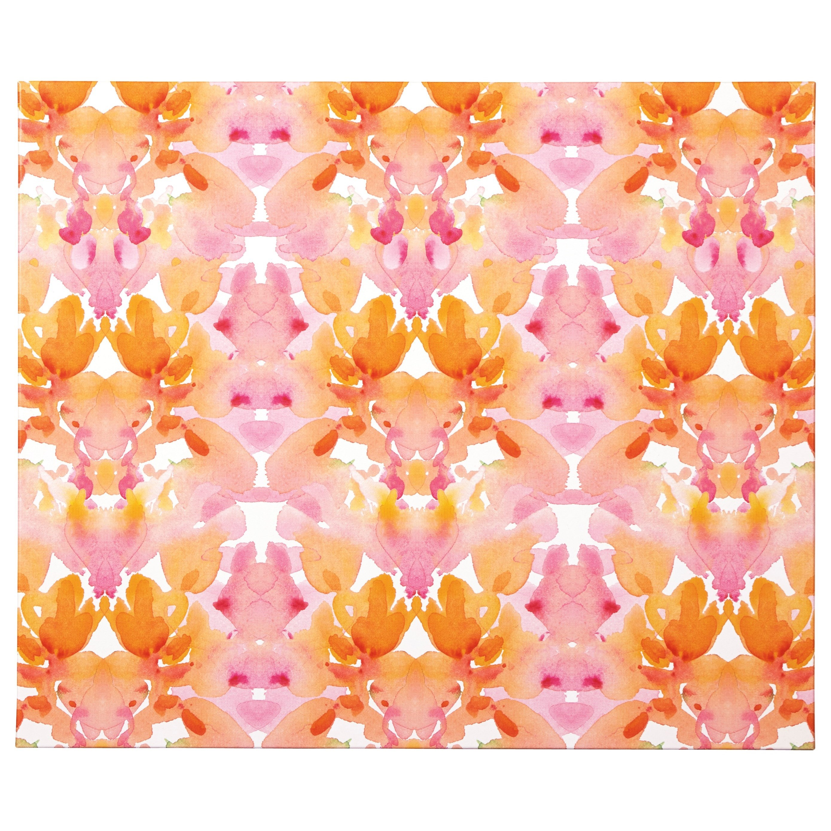Signature Design by Ashley Wall Art Jachai Orange/Pink/White Wall Art - Item Number: A8000164