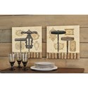 Signature Design by Ashley Wall Art Offie Tan/Brown/Black Wall Art Set