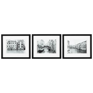 Signature Design by Ashley Wall Art 3-Piece Doga Black/White Wall Art Set