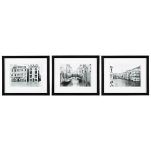 Ashley Signature Design Wall Art 3-Piece Doga Black/White Wall Art Set
