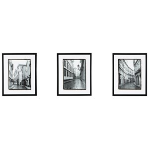 Signature Design by Ashley Wall Art 3-Piece Dorcas Black/White Wall Art Set