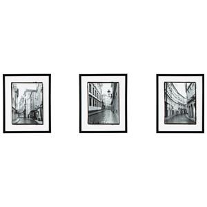 Ashley Signature Design Wall Art 3-Piece Dorcas Black/White Wall Art Set