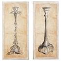 Ashley (Signature Design) Wall Art Duscha Tan/Gray Wall Art Set - Item Number: A8000203