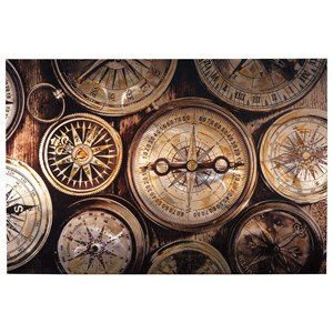 Jeaselle Compass Brown/Black Wall Art