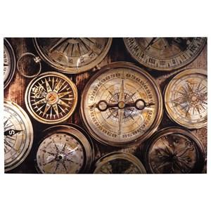 Jeaselle Compass Brown/Black Wall Art