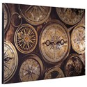 Signature Design by Ashley Wall Art Jeaselle Compass Brown/Black Wall Art