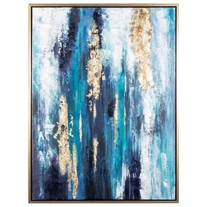 Signature Design by Ashley Wall Art Dinorah Teal Blue Wall Art