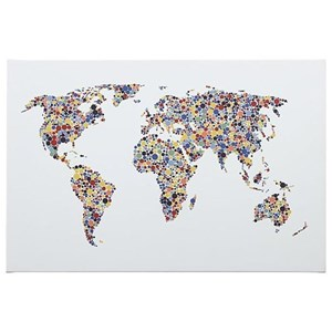 Kayson World Map Wall Art