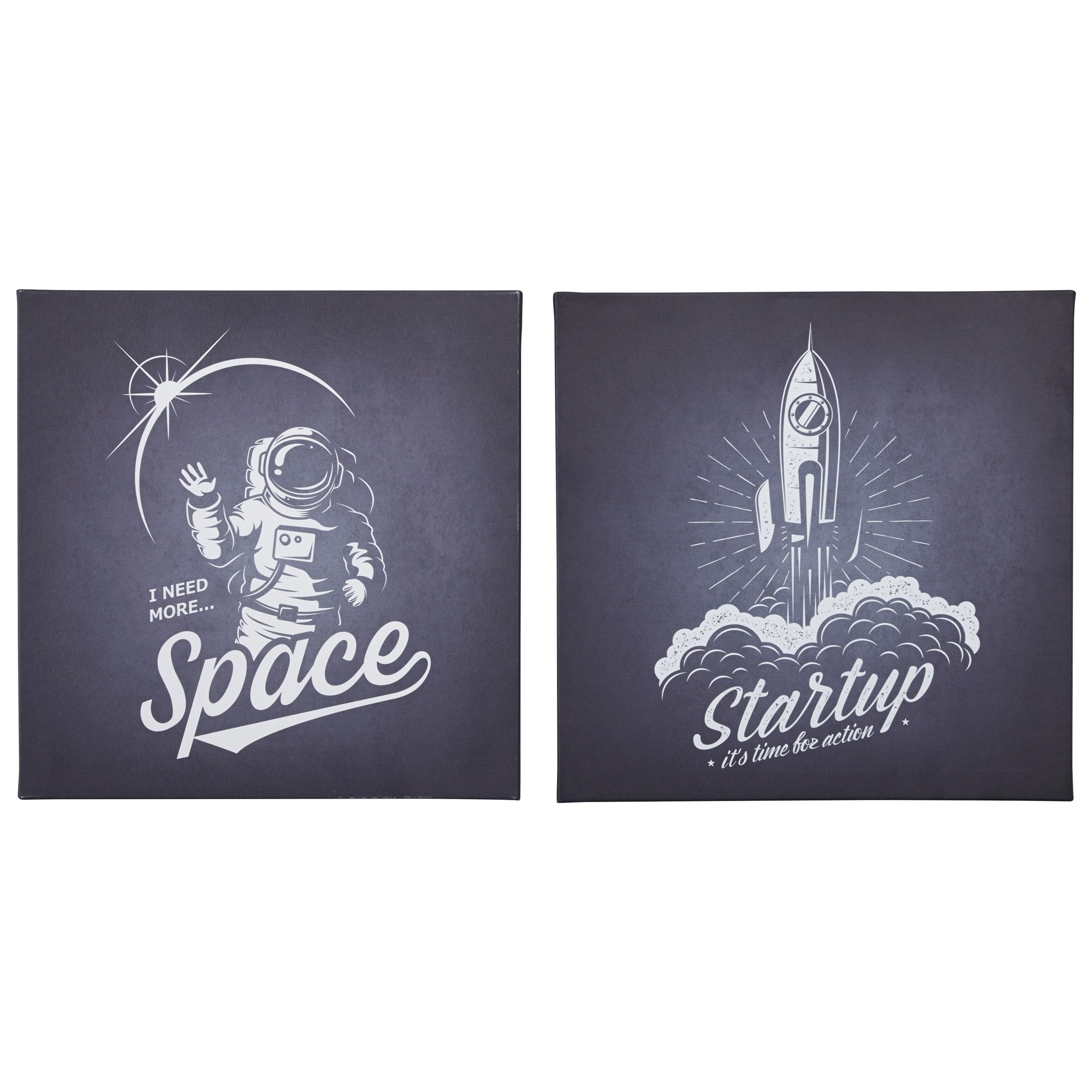 Draco Black/White Wall Art Set