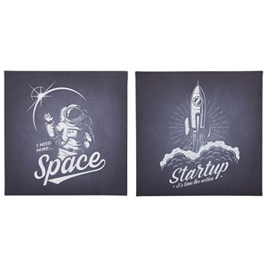 Draco Black/White Wall Art Set
