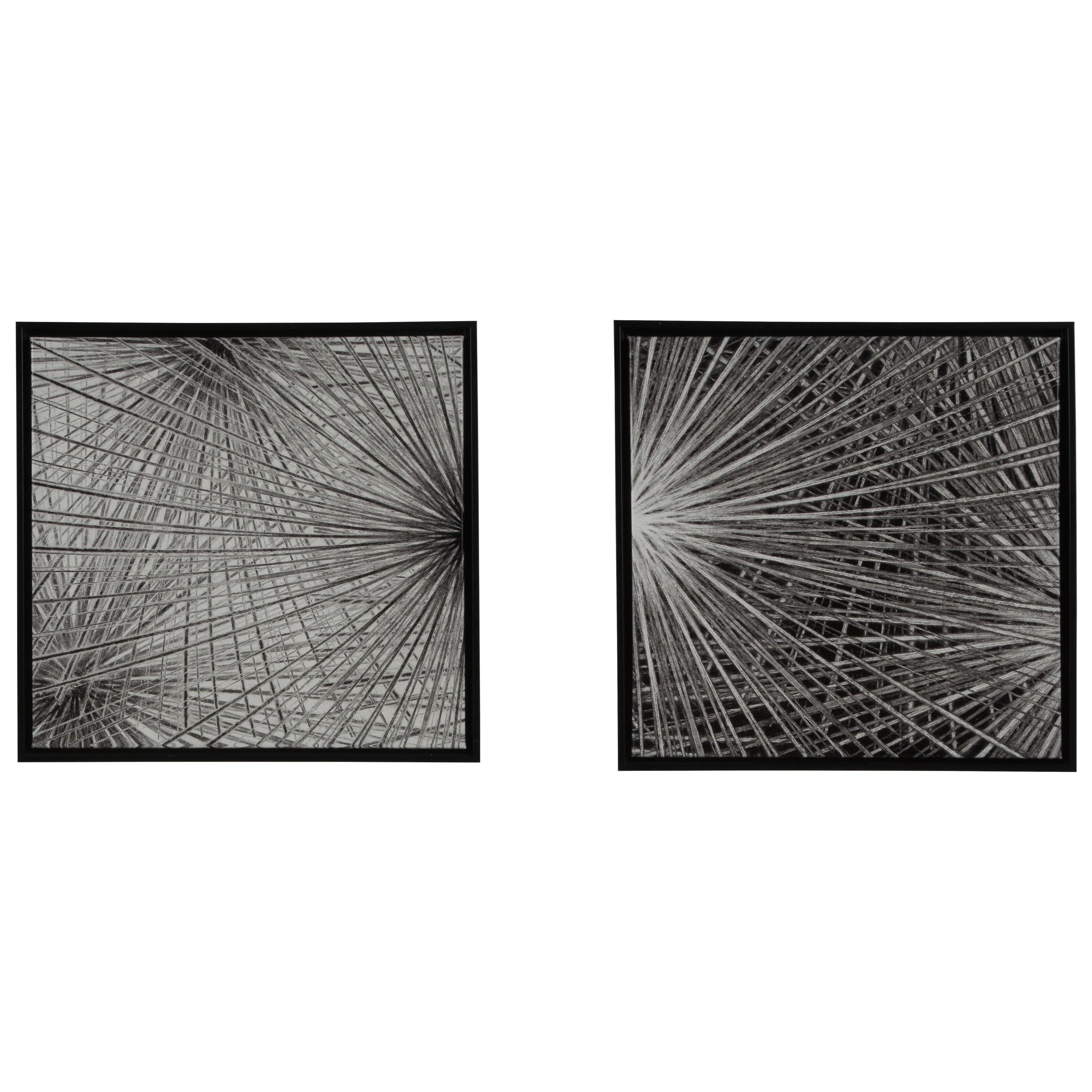 Dorinda Black/White Wall Art Set