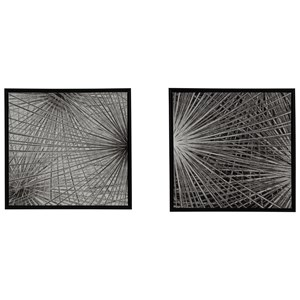 Dorinda Black/White Wall Art Set