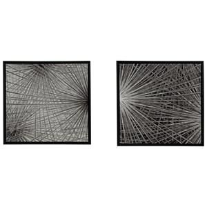 Signature Design by Ashley Wall Art Dorinda Black/White Wall Art Set