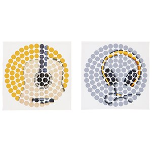 Peers Blue/Yellow Wall Art Set
