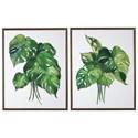 Signature Design by Ashley Wall Art Jakayla Green/White Wall Art Set - Item Number: A8000280