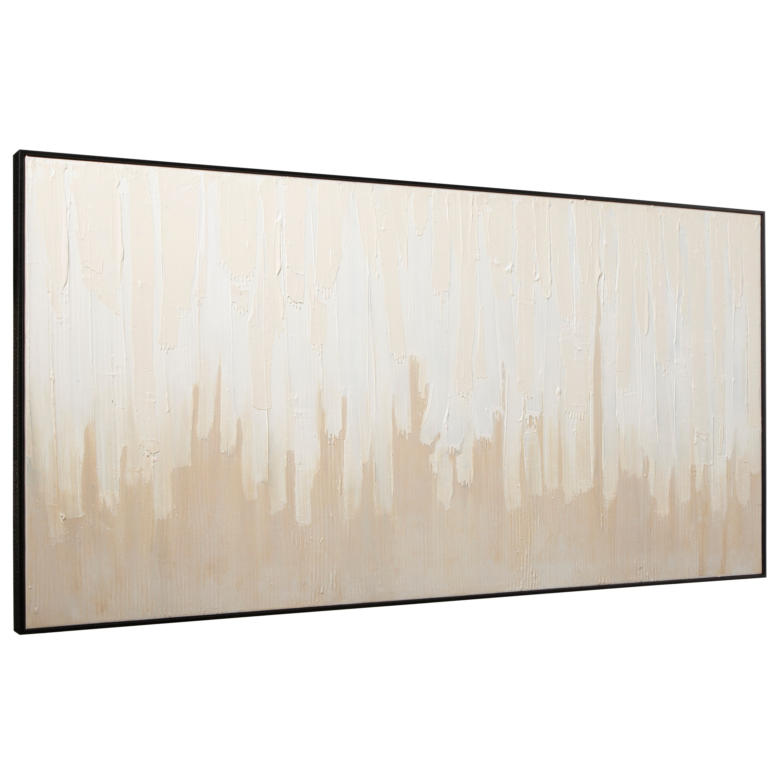 Wall Art Jennaya Tan/White Wall Art by Signature Design by Ashley at Sparks HomeStore