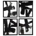 Signature Design by Ashley Wall Art Doro Black/White Wall Art Set - Item Number: A8000305