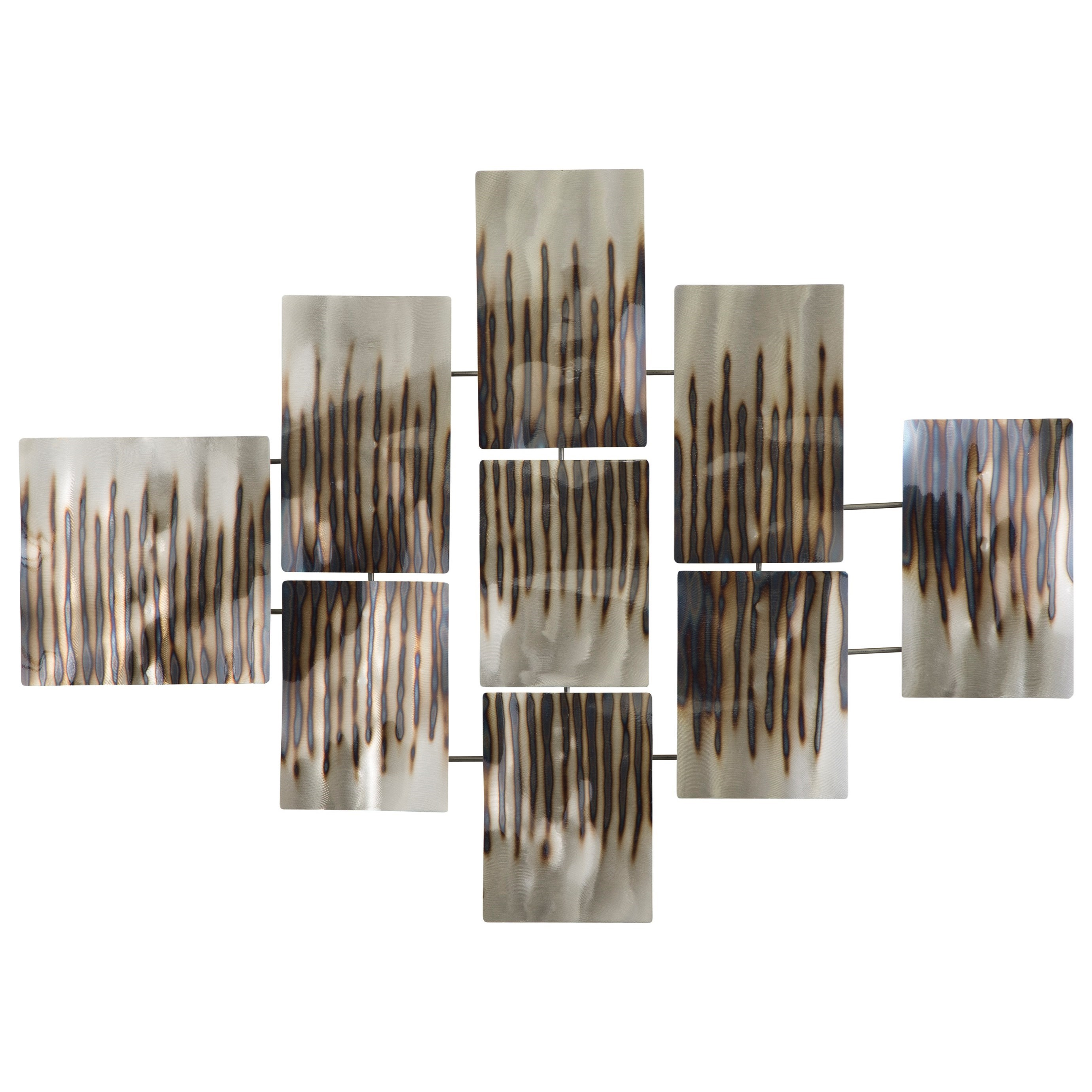 Signature Design by Ashley Wall Art Oeneus Silver/Brown/Gold Finish Wall Decor - Item Number: A8010004
